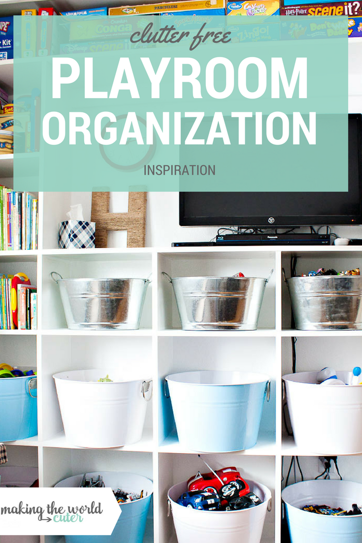 Clutter Free Organized Playroom Inspiration