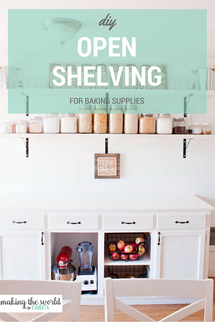 DIY Kitchen Open Shelving