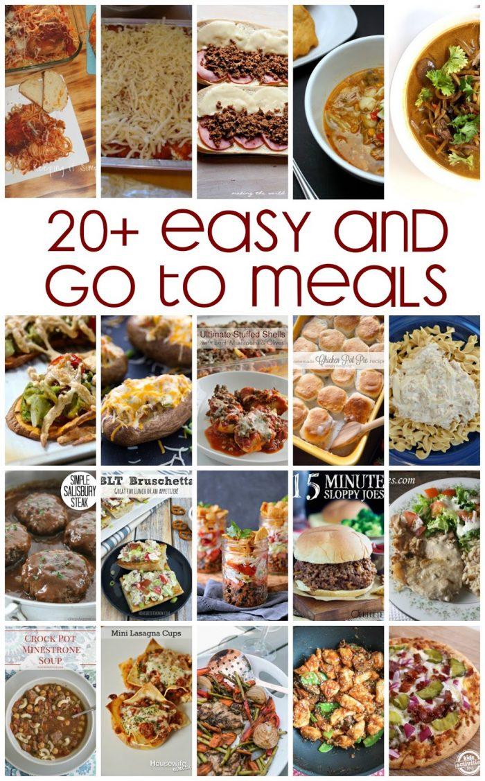 20 Easy Go-To Meals