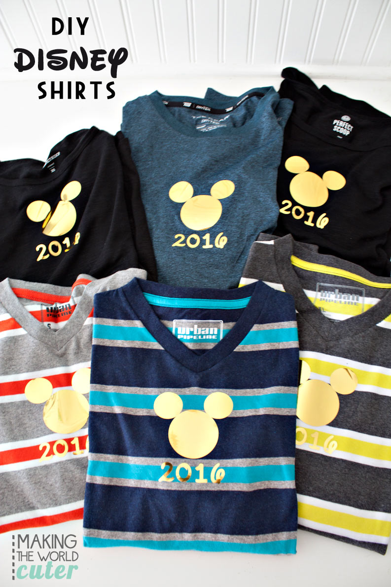 DIY Disney Shirts Mickey 2016