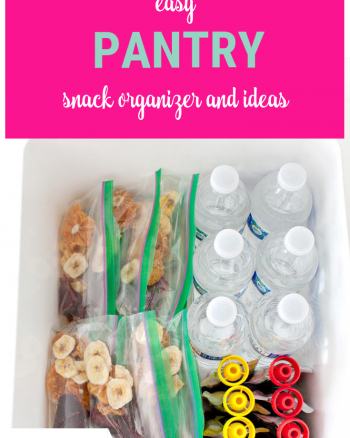 Pantry Snack Organizer and Ideas