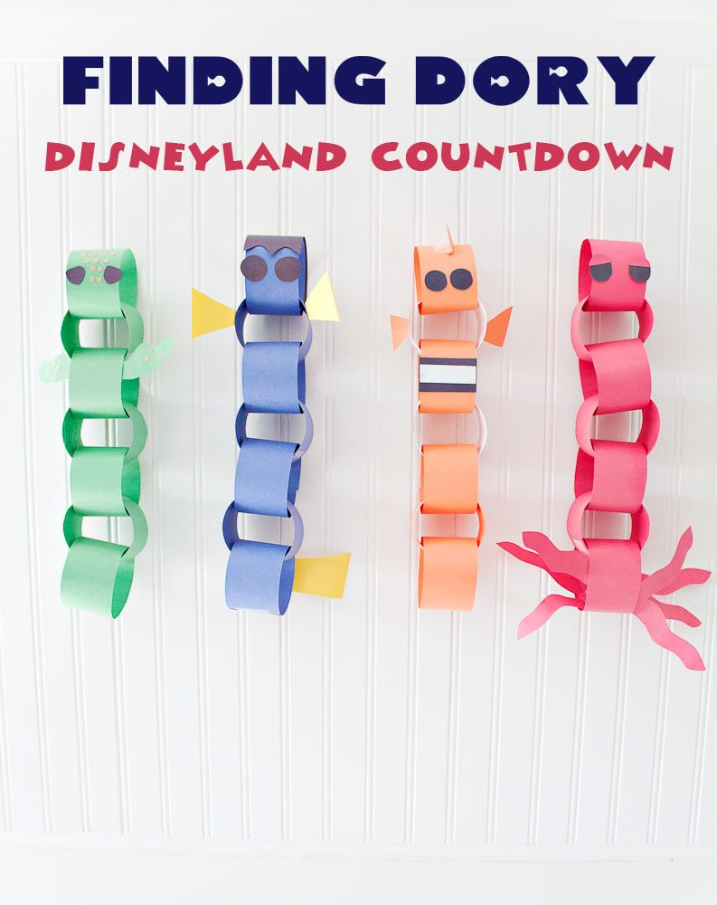 Finding Dory Disneyland Countdown! Dory, Crush, Nemo and Hank the septipus!