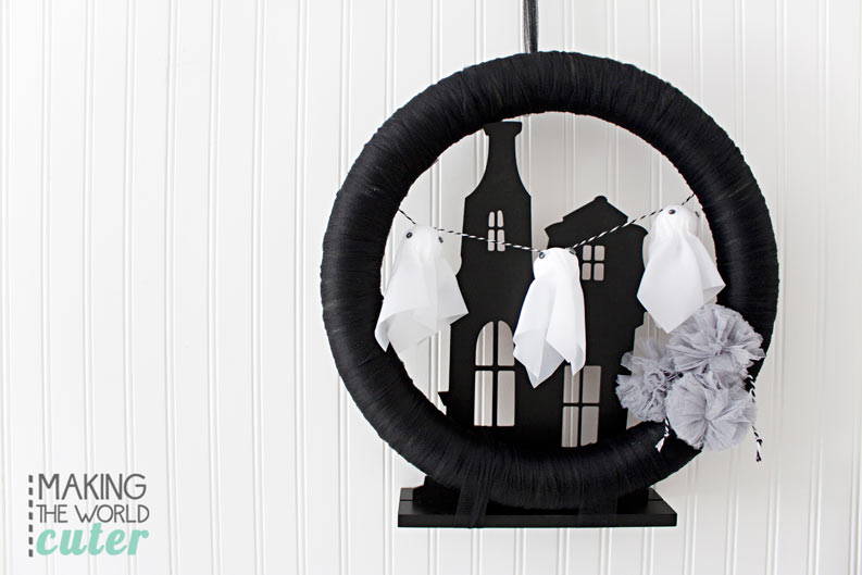Haunted House Halloween Wreath