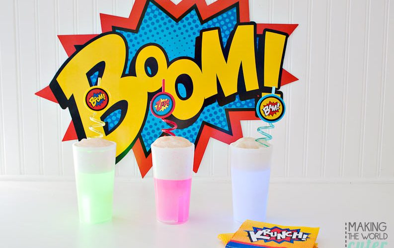 How to Make Easy, Glowing Superhero Party Drinks