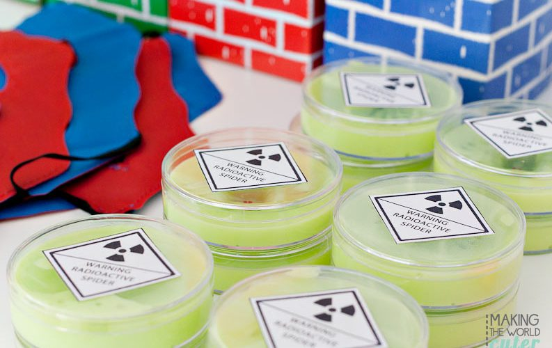 How to Make Awesome Slime for your Superhero Party Favors