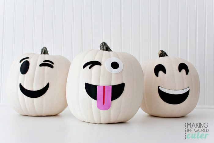 Ghost Emoji Pumpkins, love these!!!
