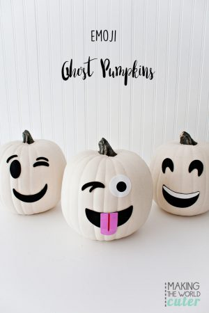 Ghost Emoji Pumpkins, love these!!!