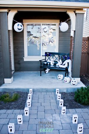 Kid Friendly Halloween Porch Decor