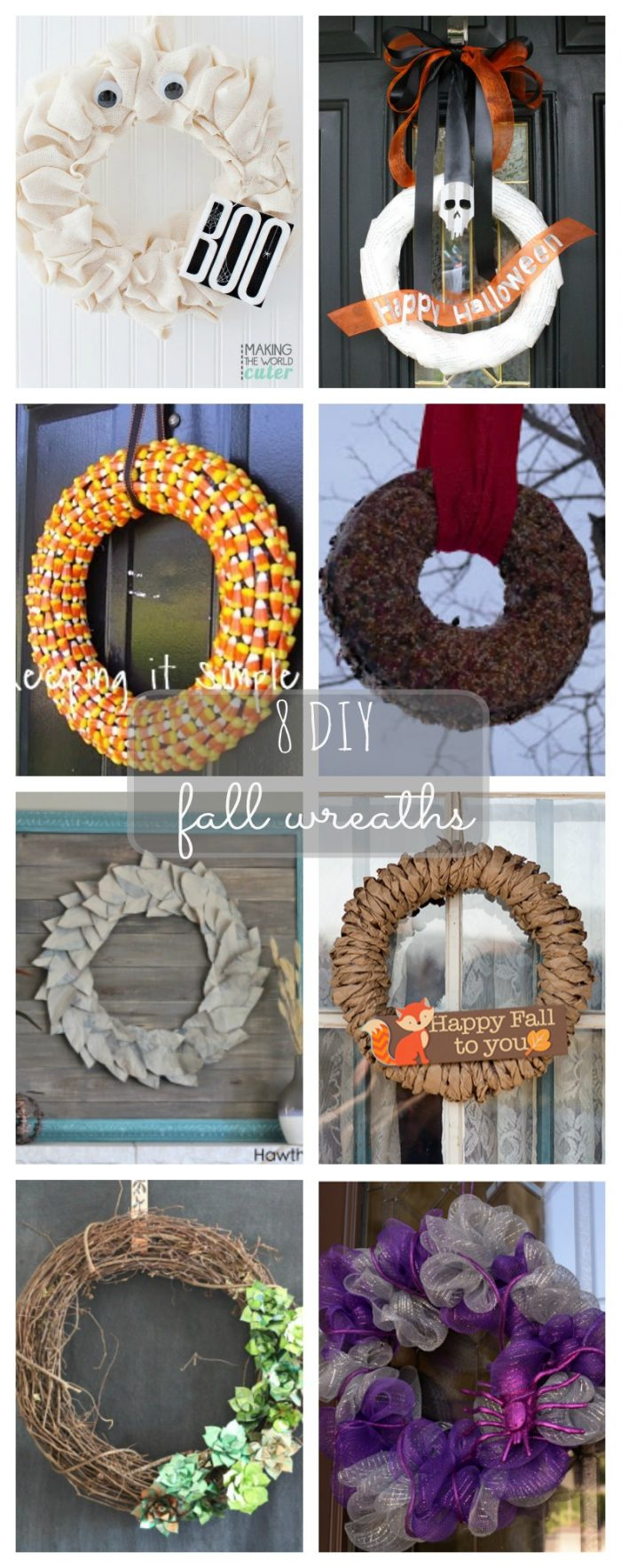 8 DIY Fall Wreath Ideas