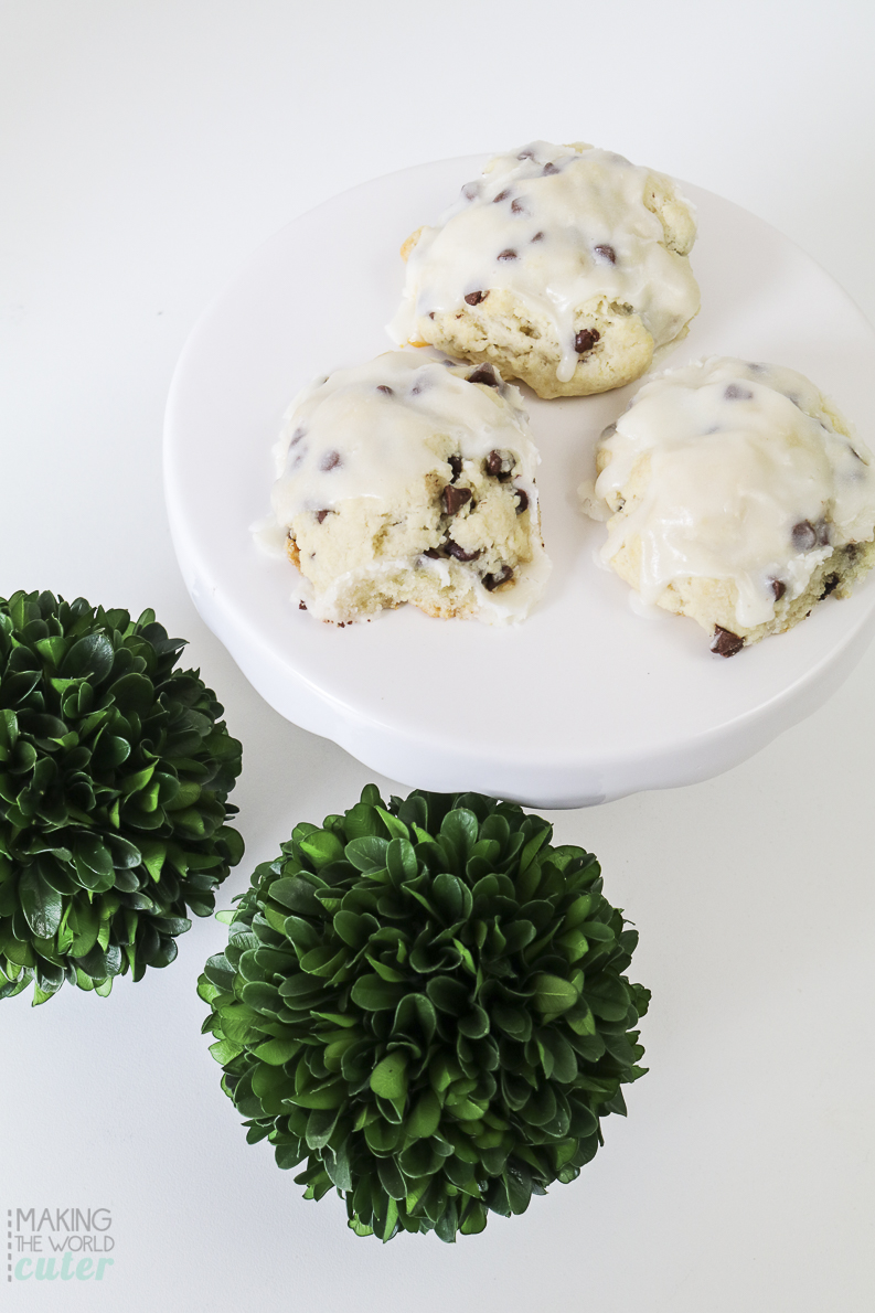 The chocolate chip scone recipe you need to make today...and tomorrow..and forever more! Yummmmmy!