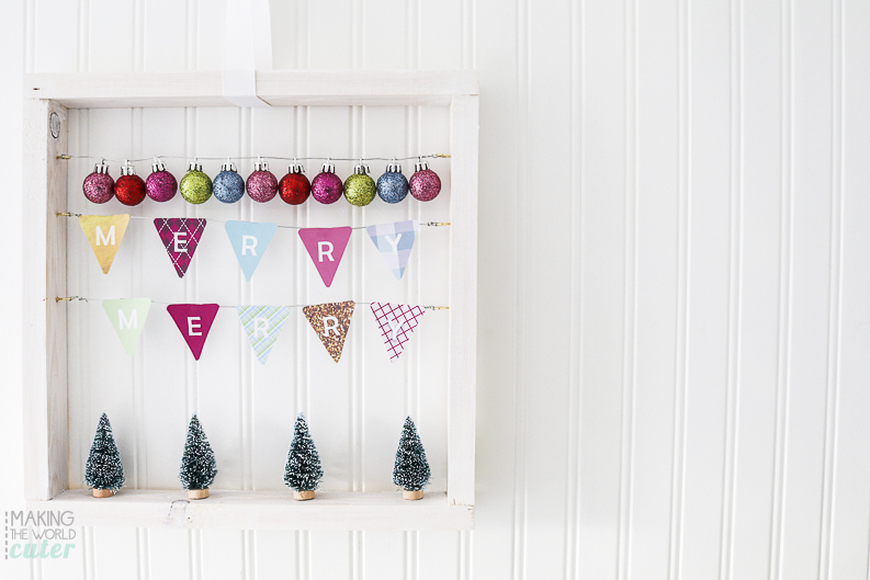 Christmas Merry Merry Square Wreath DIY