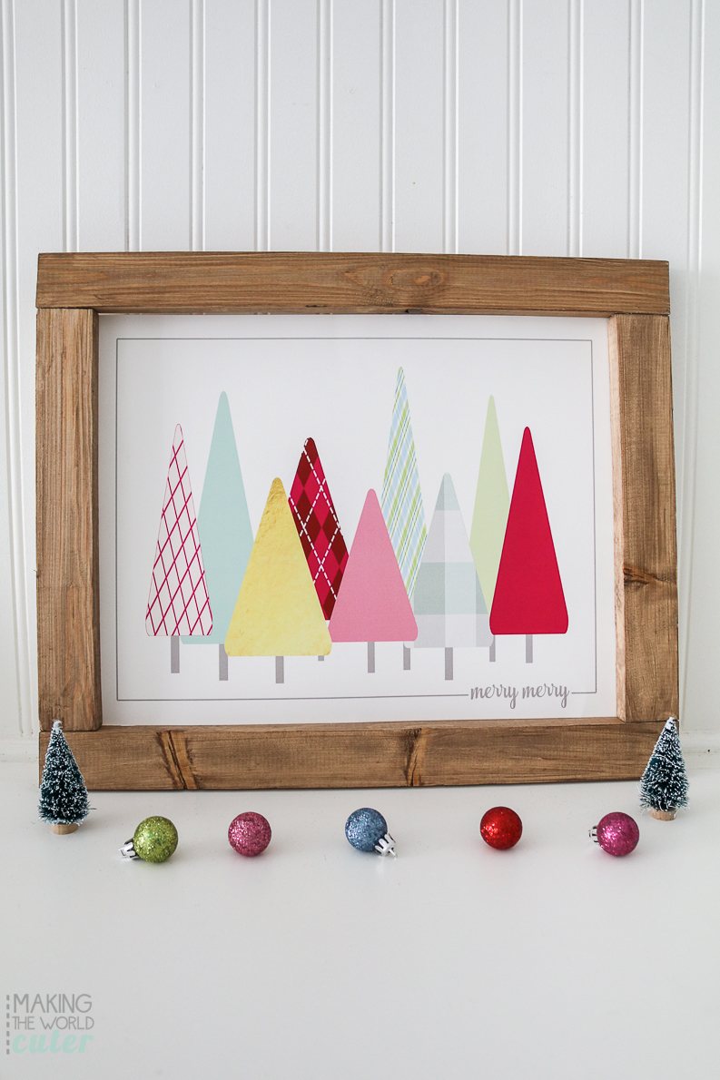Free Christmas Tree Print to Frame at Home