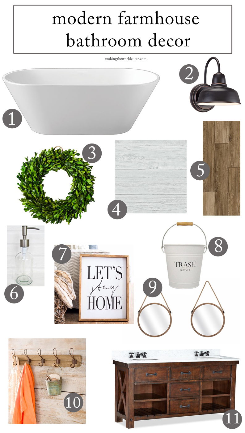 How to create a stunning modern farmhouse bathroom for Bathroom decor farmhouse