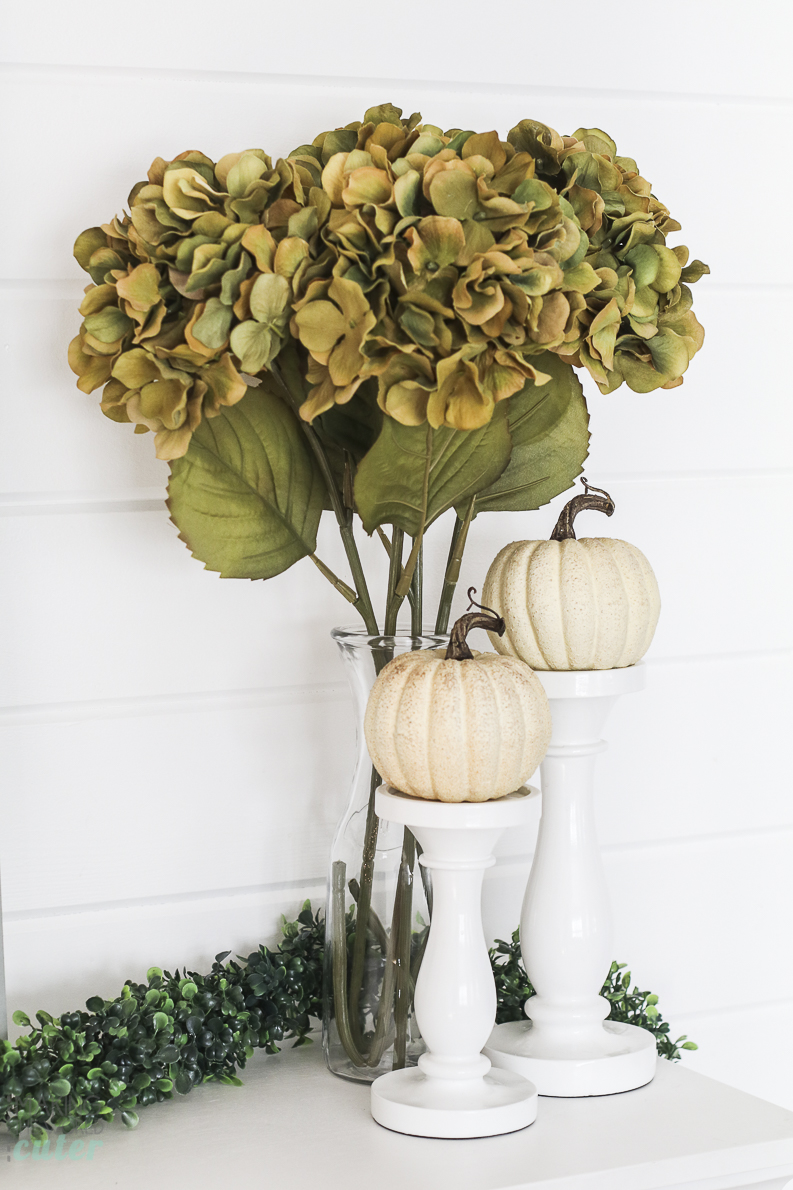 Thanksgiving Mantel Decorations and fall home tour of Making the World Cuter's House