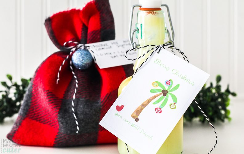 Coconut Syrup Neighbor Gift Idea with Free Printable Tag