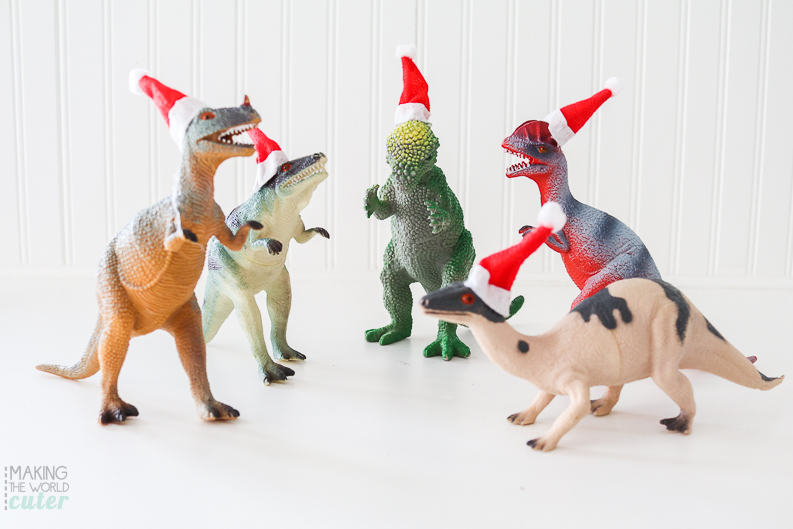 Dinosaur Christmas Decorations