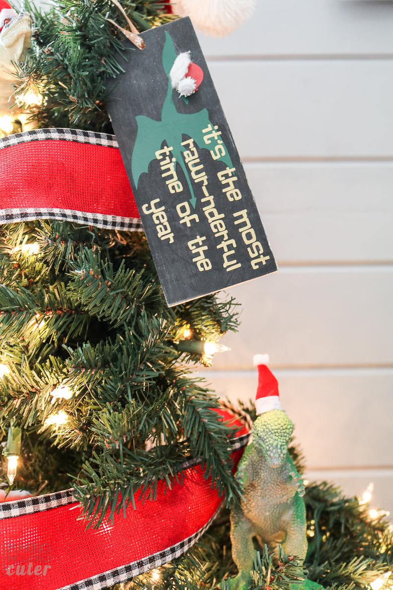 Dinosaur christmas ornaments - Dinosaur Christmas Ornaments