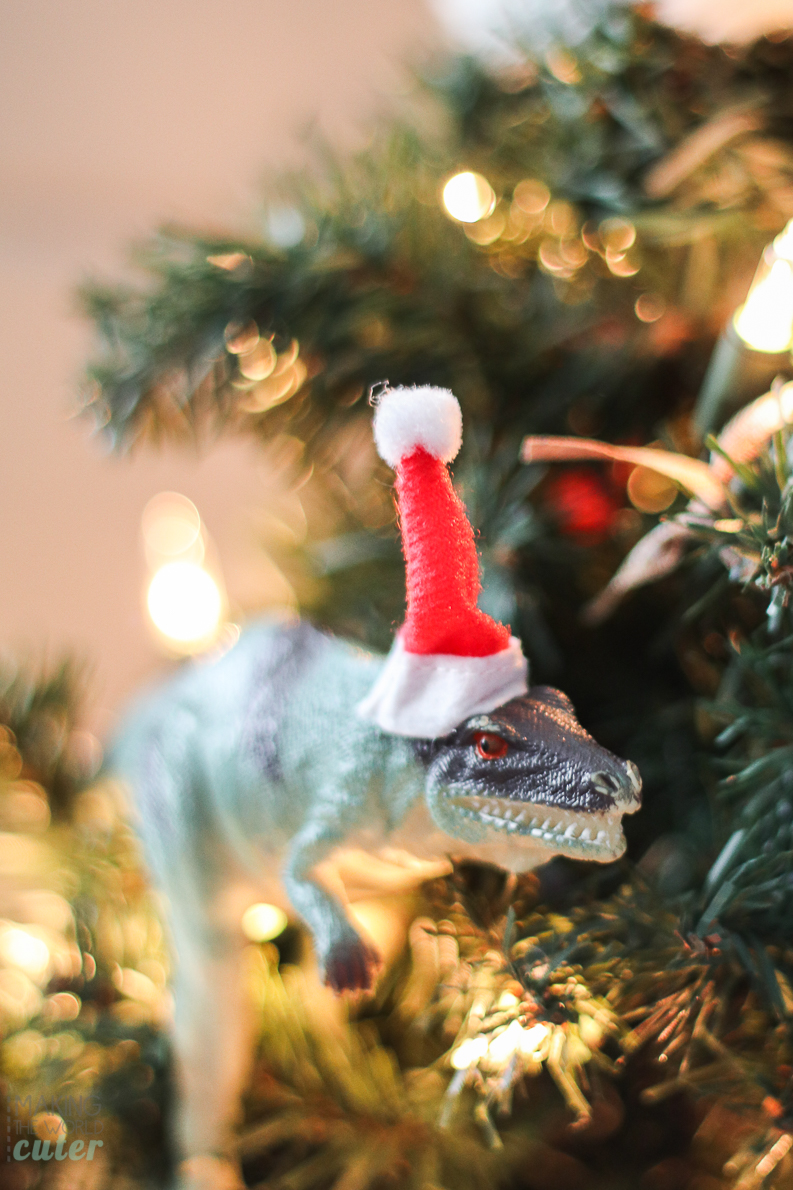 how to make funny dinosaur christmas ornaments