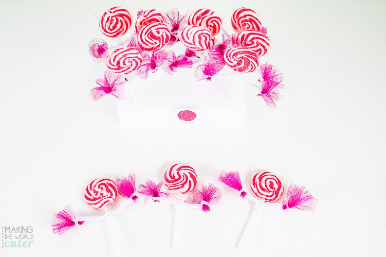 Cheerleader Lollipops DIY Party Favor for Gender Reveal Party