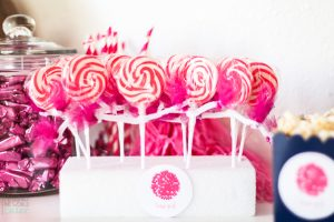 Cheerleader Lollipop DIY Party Favor for Gender Reveal Party