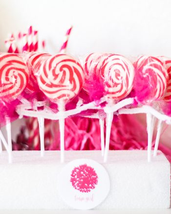 Cheerleader Lollipop DIY Party Favor for Gender Reveal Party