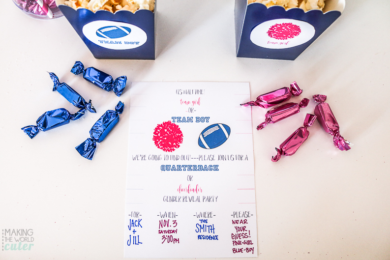 Free Printable Football Baby Gender Reveal Invitations