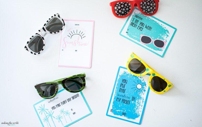 4 Free Valentine Sunglasses Printable Cards