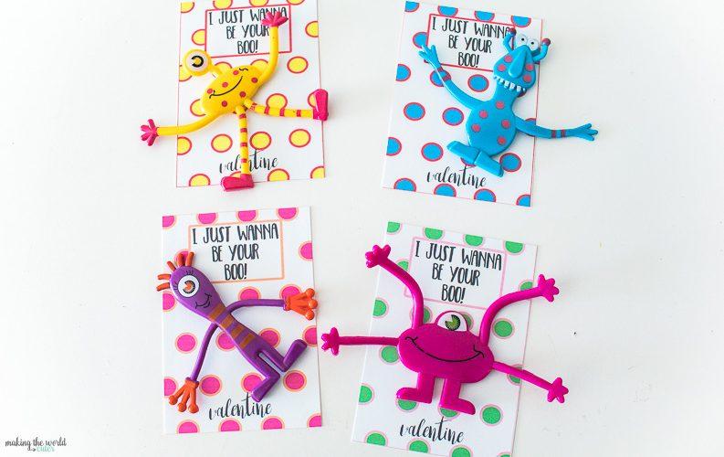 Adorable Monster Valentine Printable Cards for Kids