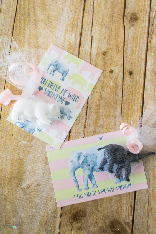 Sweetest Pink And Green Free Printable Valentine Cards. Pair With A Plastic  Animal Toy For
