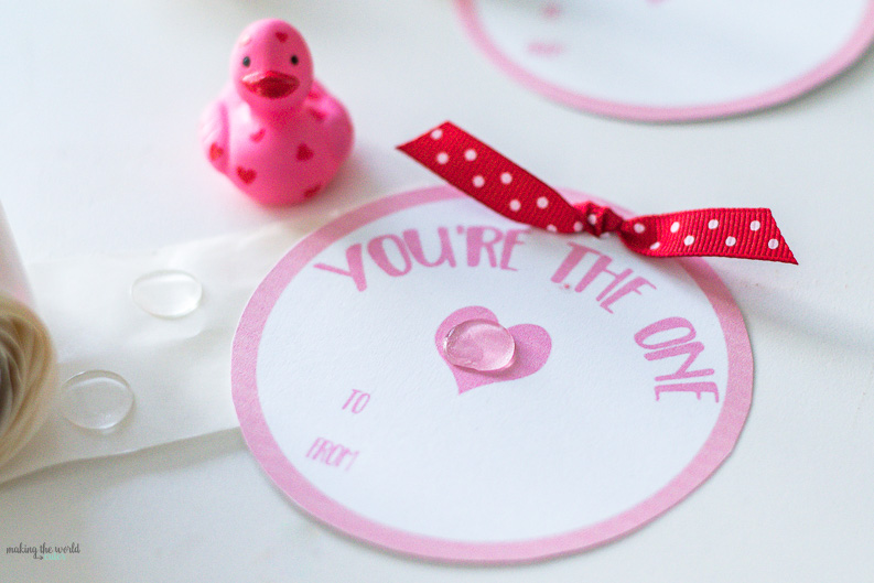 Valentine Cards for Kids Rubber Ducky You're the One