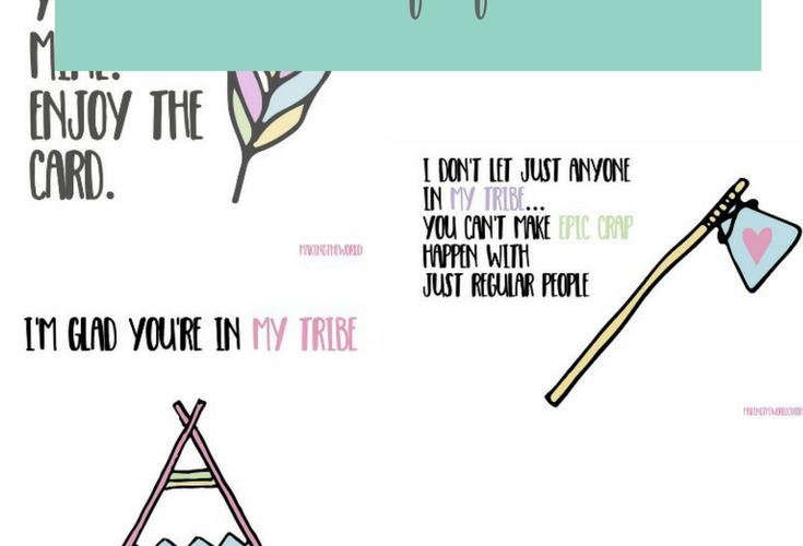 Free Tribe Valentine Cards Printables