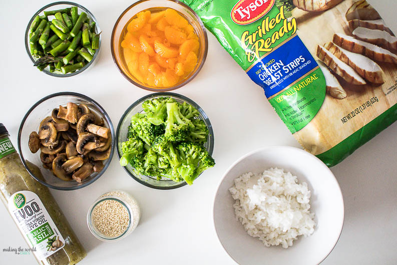 Easy Dinner Idea! Create Your Own Buddha Bowl (or as we like to call them, refrigerator bowls since you can just clean out the fridge of leftovers and veggies and make a delicious dinner!)