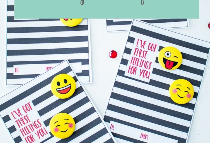 Emoji Valentines Free Printables for Kids