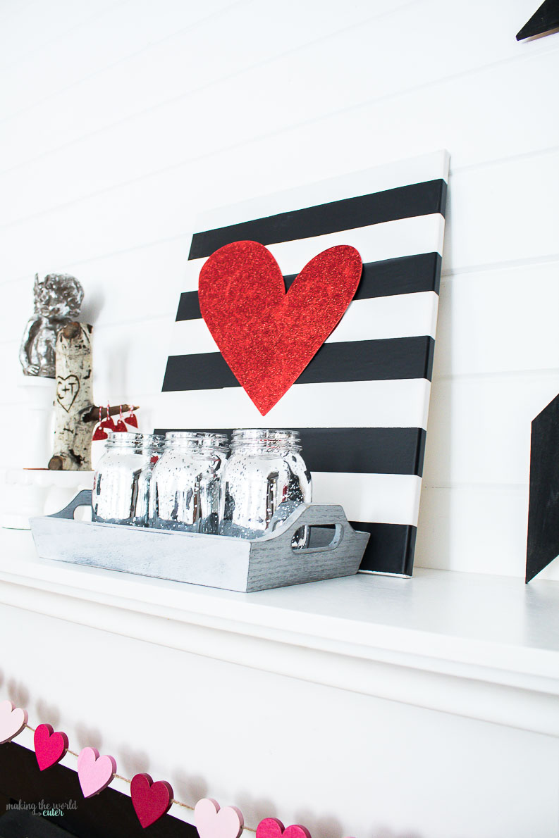 Valentine Mantel Decor Ideas for Decorating your Home in February