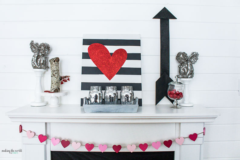 Love the Get inspired with these cute Valentine Mantel Decor and other home  decorating ideas Valentine Mantel Decor Ideas for Decorating your Home in February. Valentine Home Decorating Ideas. Home Design Ideas