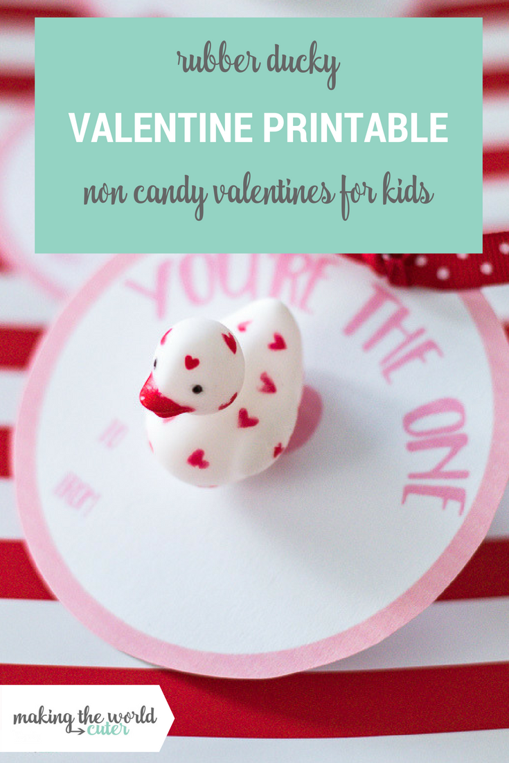Rubber Ducky Valentine Cards for Kids