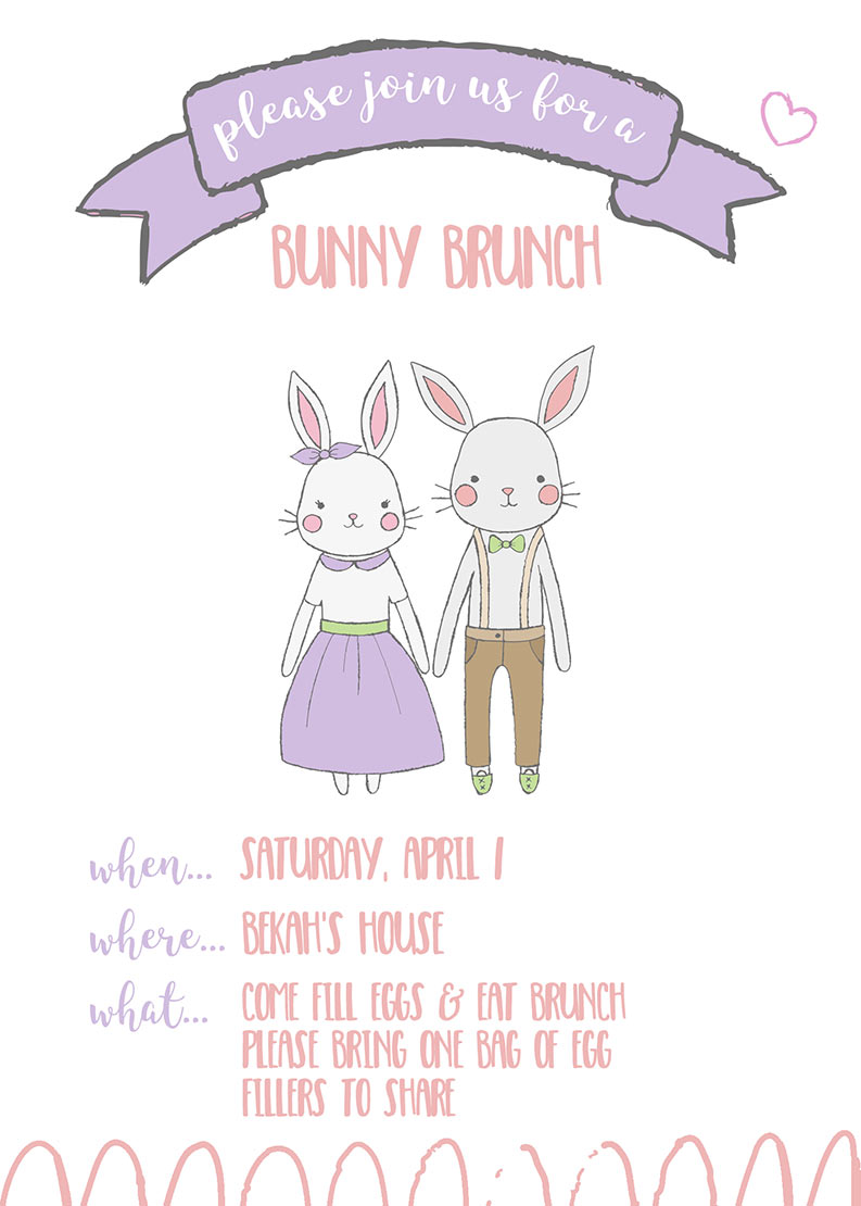 Easter Bunny Brunch Printables and Bunny Bucks Printables