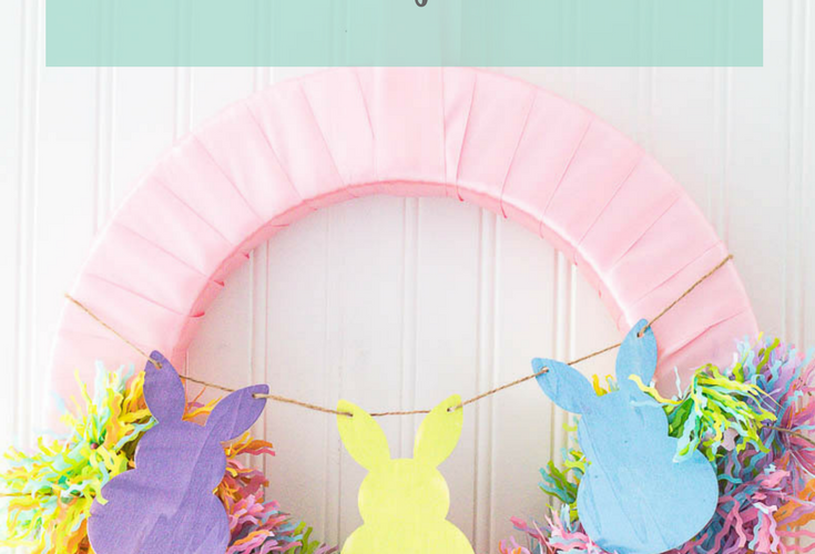 DIY Easter Bunny Wreath to Cuten Up Your Front Door
