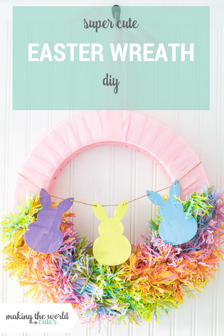 Super Cute and Easy Spring, DIY Easter Bunny Wreath