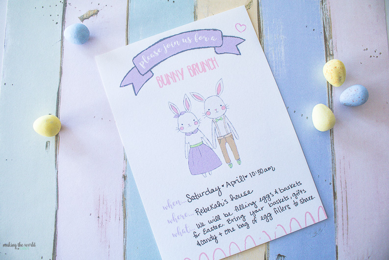 Easter Bunny Brunch Printables and Bunny Bucks Printables