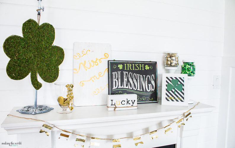 Super CUTE St Patricks Day Mantel Ideas