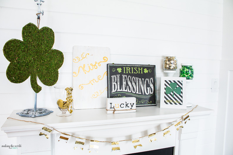 St Patricks Day Mantel Ideas