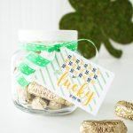 So so so so...Lucky to have you! Free St Patrick's Day printable mantel decor, printable teacher card, printable gift tag!