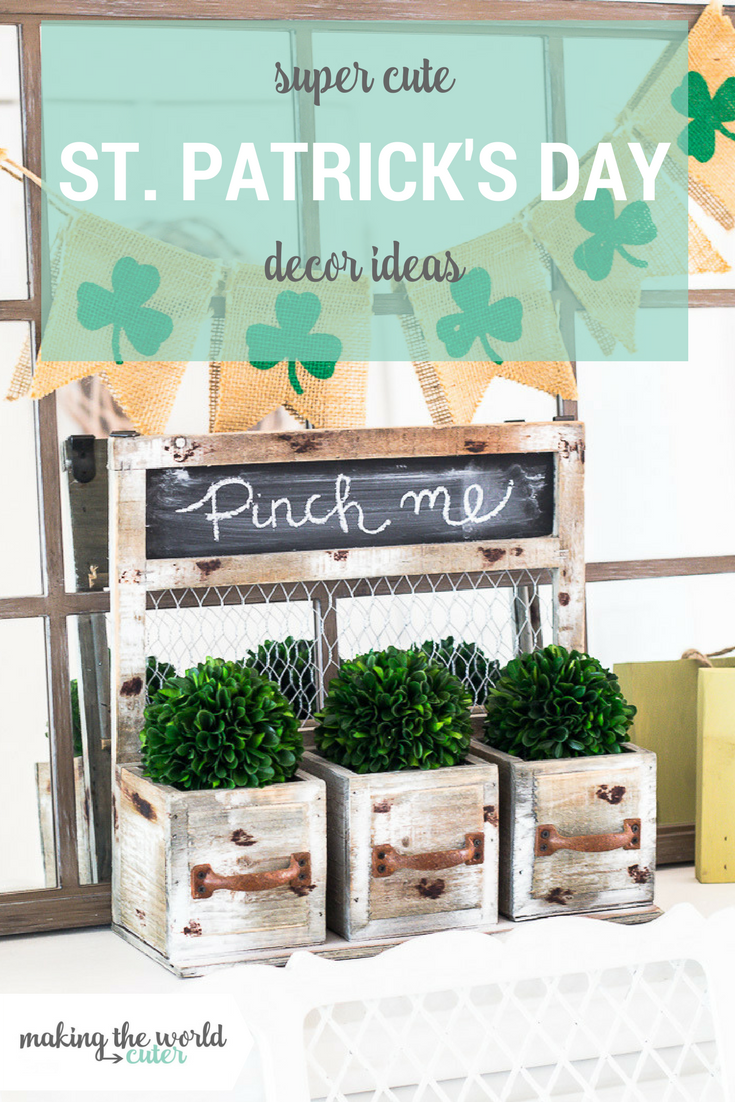 A round up of fun St Patrick's Day mantel ideas, and other decor ideas for your home