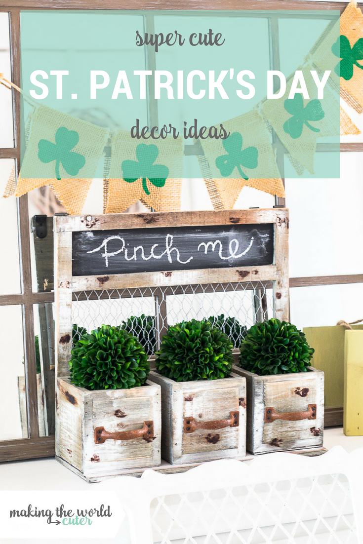 Super CUTE St Patricks Day Mantel Ideas