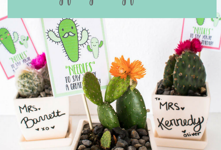 Cactus Teacher Gift Free Printable Tags