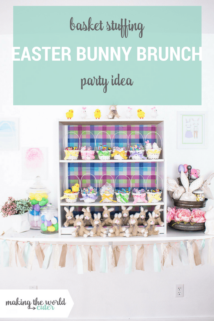 Easter Bunny Brunch and Basket Stuffing Party Idea
