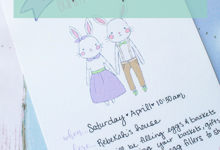 Free Printable Easter Bunny Brunch Invitations and Bunny Bucks