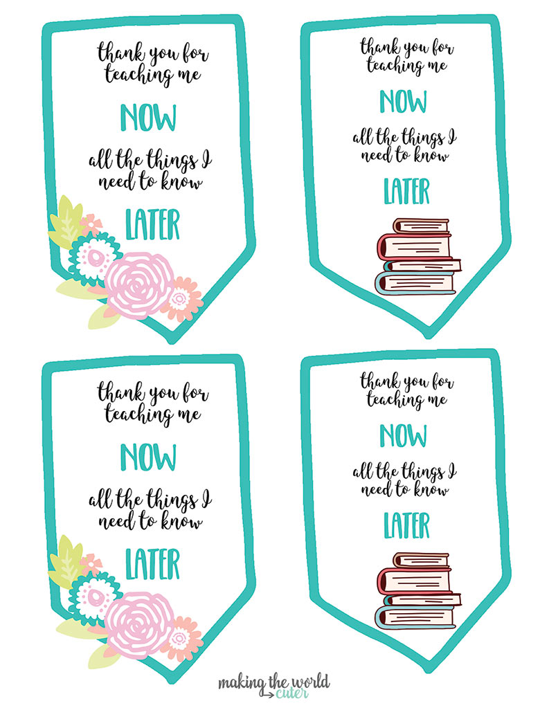 Now and Later Free Printable