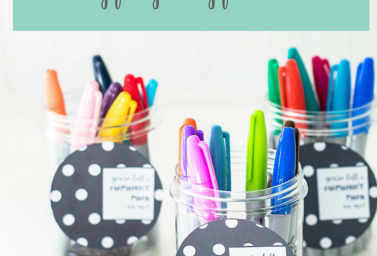 Sharpie Teacher Appreciation Gift Ideas